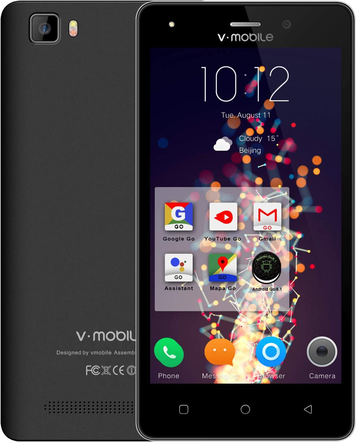 Moviles Libres Baratos 4G, V·MOBILE A11 Android 8.1 Oreo 16GB ROM ...