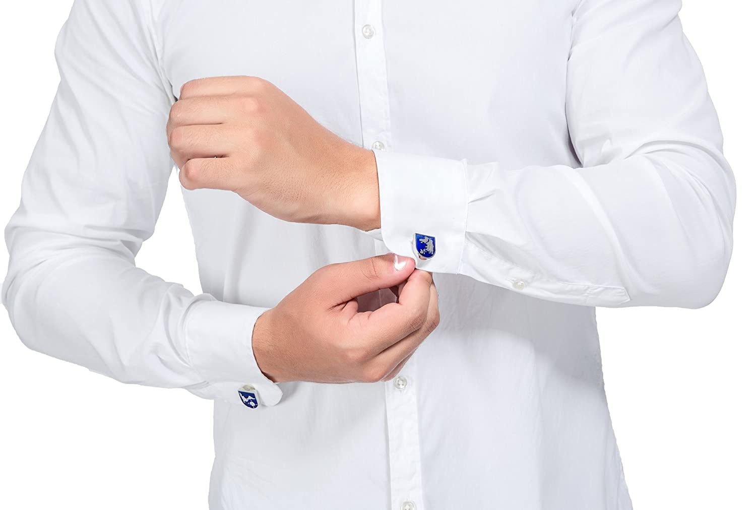 1 Pair Set Wedding Jstyle Jewelry Mens World Map Shirts Cufflinks Color Blue Silver