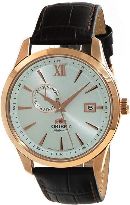 Orient AL00004W - Reloj de pulsera para hombre (esfera plateada), color dorado: Amazon.com.mx: Relojes