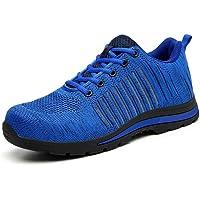 CVAYU Zapatos de Seguridad de Acero para Hombres y Mujeres, Ligeros, Transpirables, de construcción Industrial, protegen…