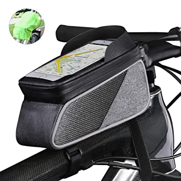 f34506ebe10b ROTTO Bicycle Bag Bike Frame Bag Top Tube Phone Bags Sensitive Touch Screen  Waterproof with Rain Cover