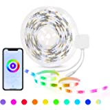 HBN Smart LED Strip Lights, 16.4ft WiFi RGBW LED Light Strips Work with Alexa and Google Assistant, 5050 Color Changing LED w