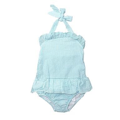 1a7150e0f5 MONOBLANKS Cute Baby Girls Swimwear Bow Seersucker Bikini 2 Piece Swimsuit  (2/3t,
