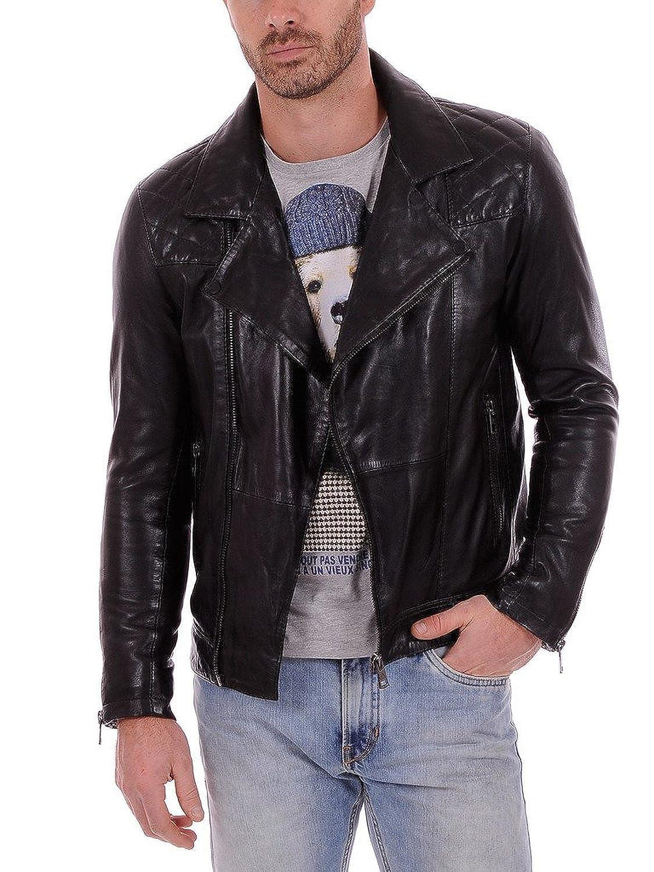 Laverapelle Men's Lambskin Real Leather Jacket Black - 1510504