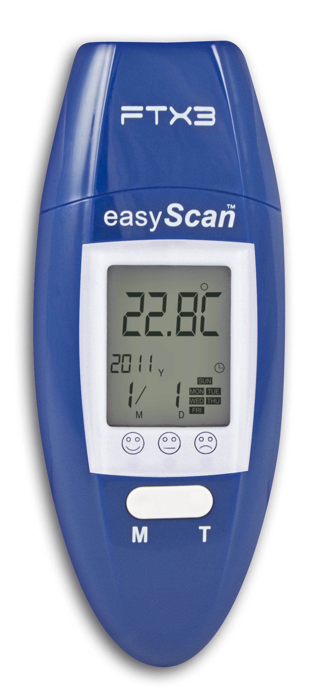 Visiomed Easyscan Ear and Forehead Thermometer 6-in-1 Ftx3 (Blue)
