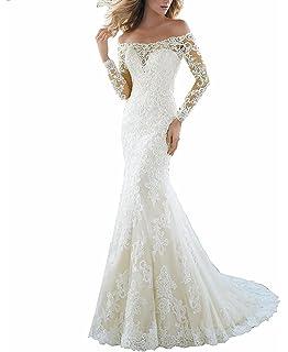 5aa996366c LL Bridal Women s Mermaid Lace Floral Bridal Gown Wedding Dresses for Bride  2018 LLAP193