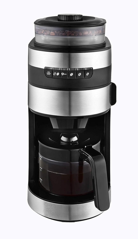 Venga! VG CCG 3006 - Cafetera con molinillo de acero inoxidable, cristal y plástico, 750 W, 850 ml (negro): Amazon.es: Hogar