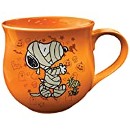 Vandor 85661 Peanuts Halloween Cauldron Ceramic Soup Coffee Mug Cup, 14 Ounce