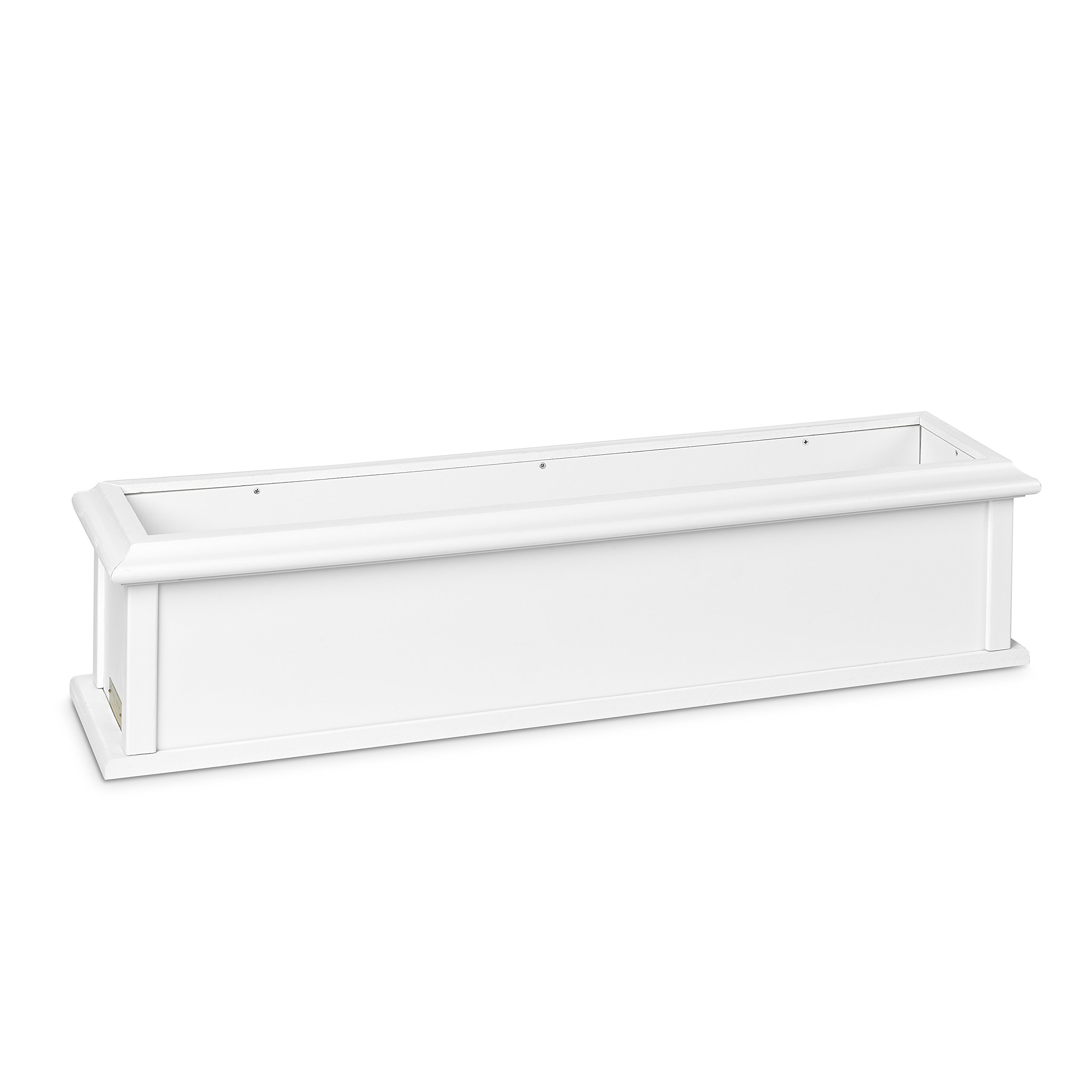 Good Directions 999163 Charleston Vinyl Window Box Kit with 2 Brackets, 46'' x 9'' x 10'', White