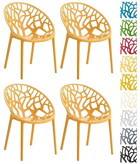 CLP Chaise de jardin Hope Lot de 4, chaise empilable en ...