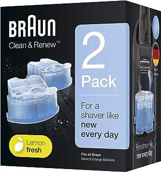 Braun Clean/&Renew CCR2 2er Ersatzkartuschen für Series 3 5 7 9 Reinigungsstation