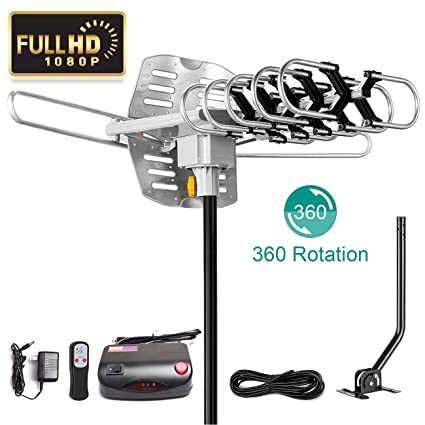 UPGRADED 2018 VERSION HD Digital TV Antenna Kit–Best 150 Miles Long Range High-