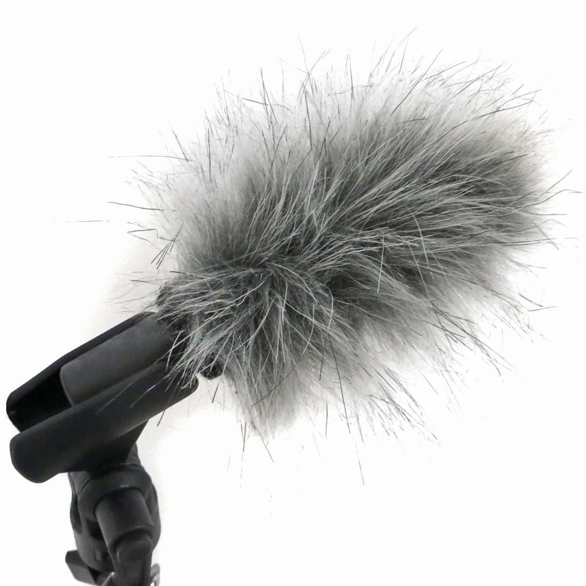 Windschutz für Mikrofon mit Fell für Interviews