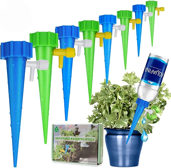 Drip Watering System for Any Plants Never Stopping Flow Automatic Irrigation System for Potted Plants Water Plants While Away LAVIZO 【New Upgrade】 Plant Self Watering Spikes,Auto Watering Spikes