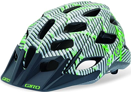 Giro Hex - Casco para ciclismo, color matte green/black lines logo - M