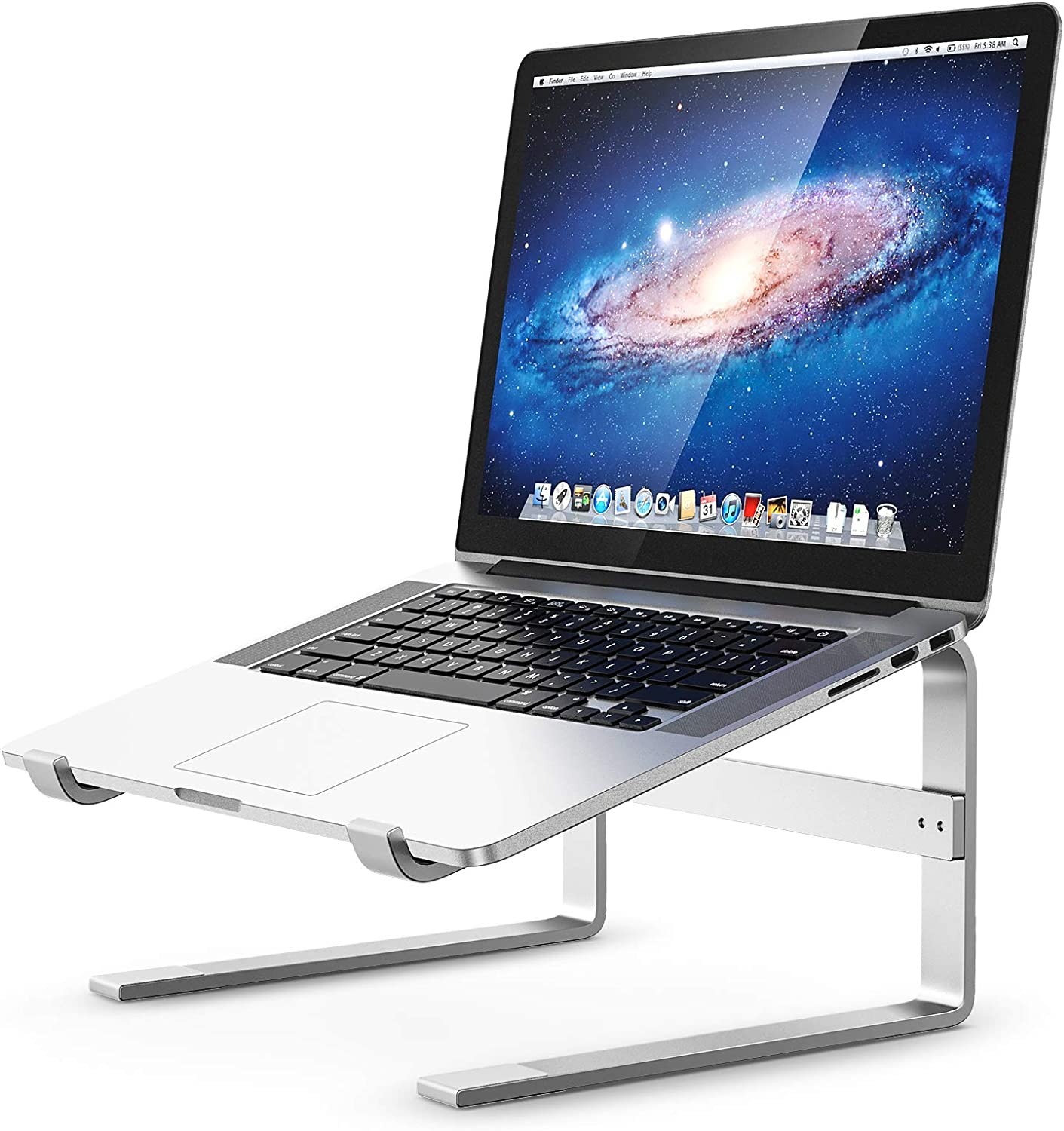 Laptop Stand, Tiluza Aluminum Laptop Riser for Desk, Ergonomic Computer Stand Notebook Metal Holder Elevator Compatible with MacBook Air Pro, Dell XPS, HP, Lenovo and More 10-17'' PC