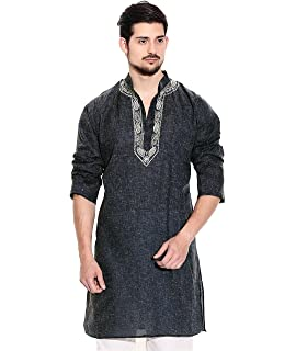 cfbb54edc32 STYLE QUOTIENT by NOI Men s Navy Blue Printed Stylish Pathani Long ...
