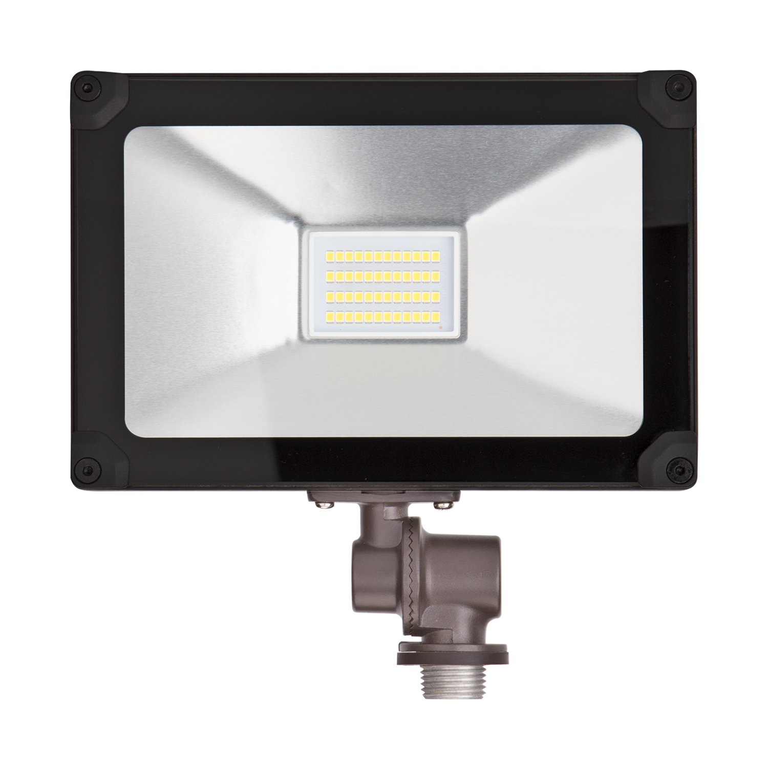ALOTOA 20W LED Flood Light with Knuckle Mount Super Slim SMD Outdoor [2000lm] Landscape Security Waterproof for Garden Piazza Bill Boards Factory (Natural White 4000K)