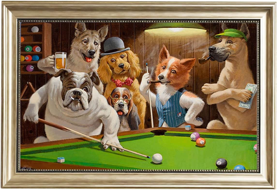 Eliteart-Dogs - Piscina para Perros, Framed(sf606), 20x30: Amazon.es: Hogar