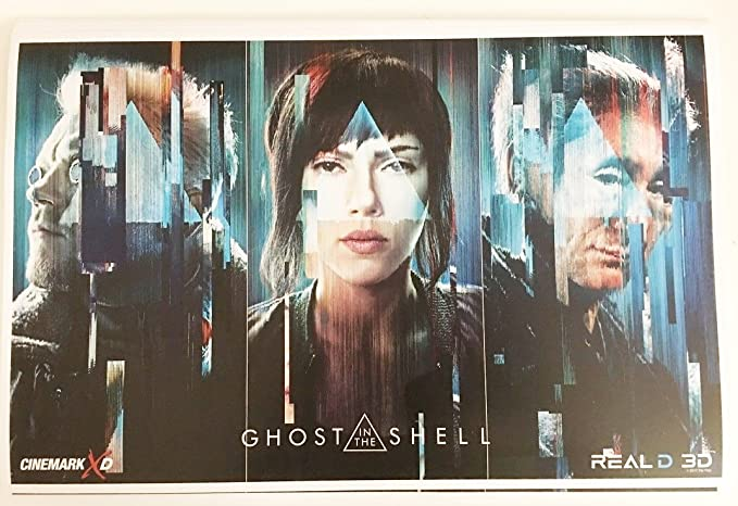 Ghost In The Shell 11 X17 Original Promo Movie Poster 2017 Cinemark Scarlett Johansson At Amazon S Entertainment Collectibles Store