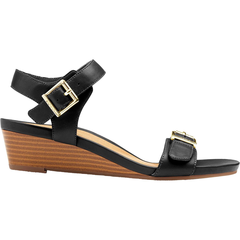 Vionic Port Frances - Womens Demi- Wedge Sandal Black - 6 Medium by Vionic