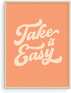 Haus and Hues Relax Sign Peach Pictures for Room - Cute Quote Posters and Inspirational Wall Art for Girls | Relax Wall Decor Relax Art Sign Relax Poster Cute Posters UNFRAMED 12