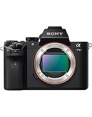 Sony ILCE-7M2 Alpha7 II - Cámara EVIL de 24.3 MP con montura tipo E y sensor de fotograma completo, estabilizador de 5 ejes, Full HD, color negro