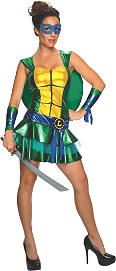 Secret Wishes Womens Teenage Mutant Ninja Turtles Leonardo Costume Dress, Multi