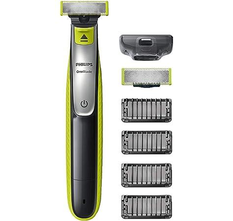 Philips QP6520/30 OneBlade Pro - Recortador de barba con peine de precisión de 14 longitudes y base de carga, recorta, perfila y afeita, recargable: Amazon.es: Salud y cuidado personal