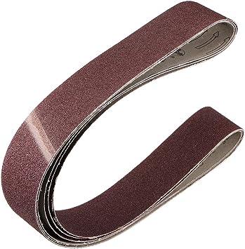 Oxide Sanding Aluminum Belt 4x24 Inch Wood Aluminum 320 Grit Durable 10 Pack