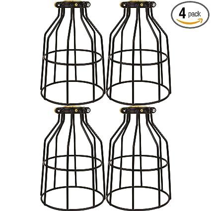 Newhouse Lighting WLG1B-4 Metal Bulb Guard Lamp Cage for Pendant Lights, on