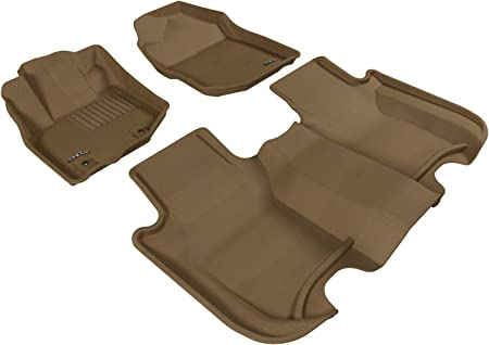 Tan L1IN01701502 3D MAXpider Complete Set Custom Fit All-Weather Floor Mat for Select Infiniti Q50 Models Kagu Rubber