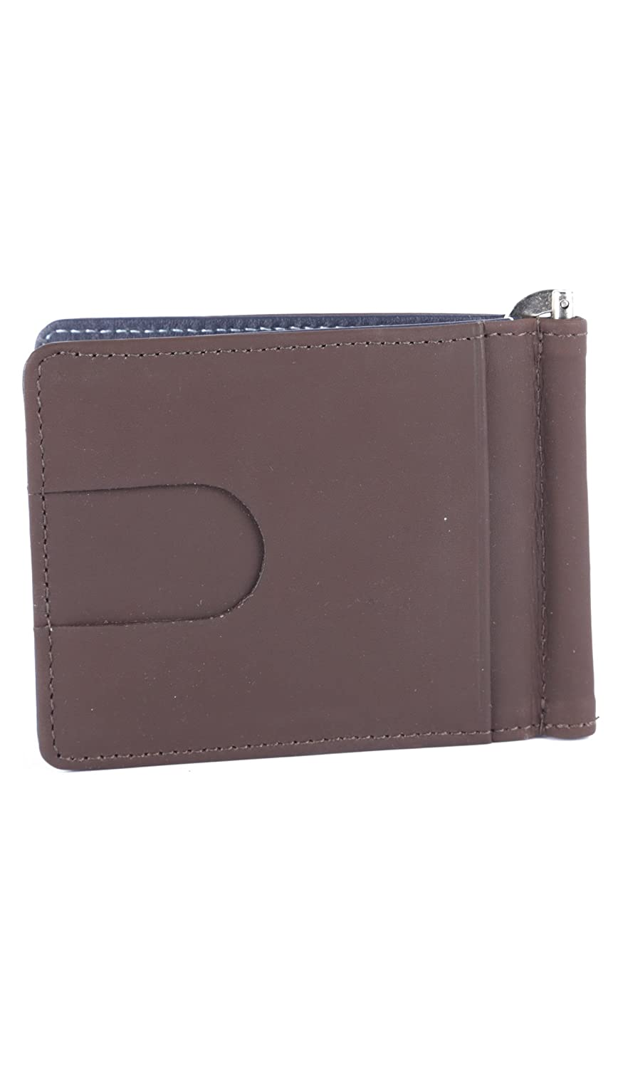 Velez Men Genuine Real Leather Bifold Credit Card Holder Slim Horizontal Standard Travel Wallet Slim Money Clip Carteras de Cuero para Hombres Brown at ...