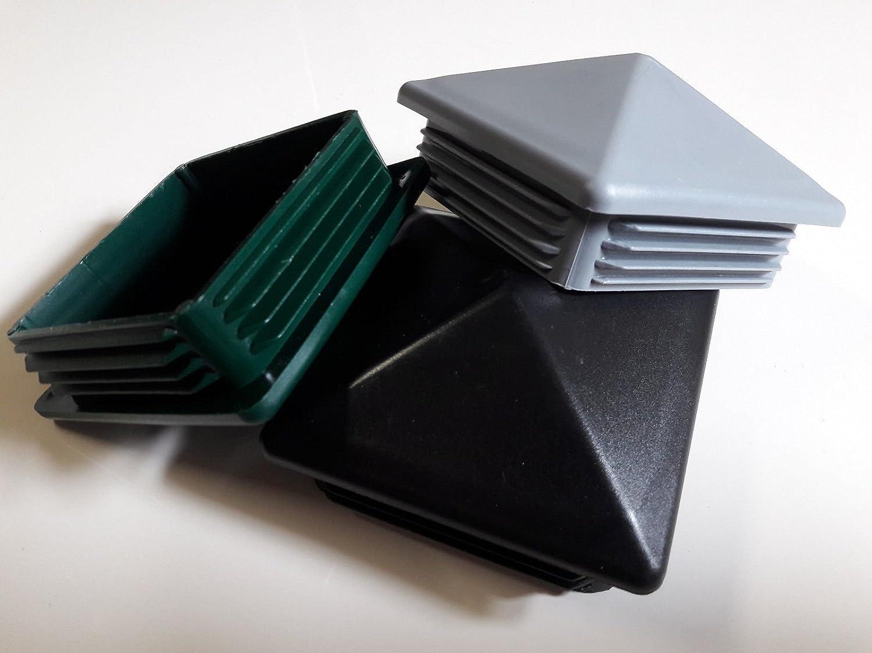 5 St/ück Zaun Pfostenstopfen 60x60mm Grau Pyramidenf/örmig