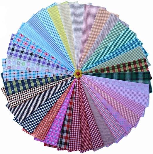 36 Colores Retales de Telas Algodón Series A Cuadros - 20 * 30 cm ...
