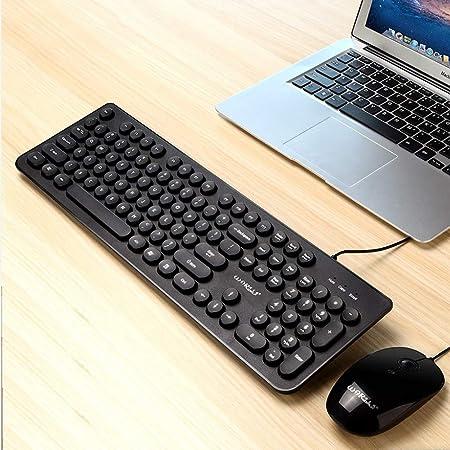 FairOnly ergonomía Teclado USB con Cable + ratón para ...