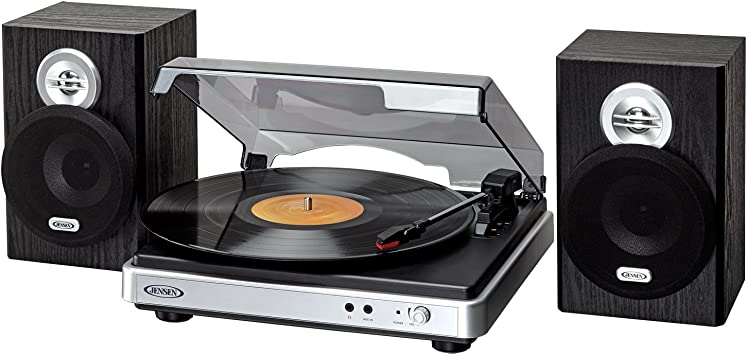 Amazon.com: Jensen Turntable plata/negro (jta-325): JENSEN 3 ...