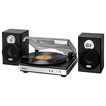 Captivating Jensen Turntable Silver/Black (JTA 325)