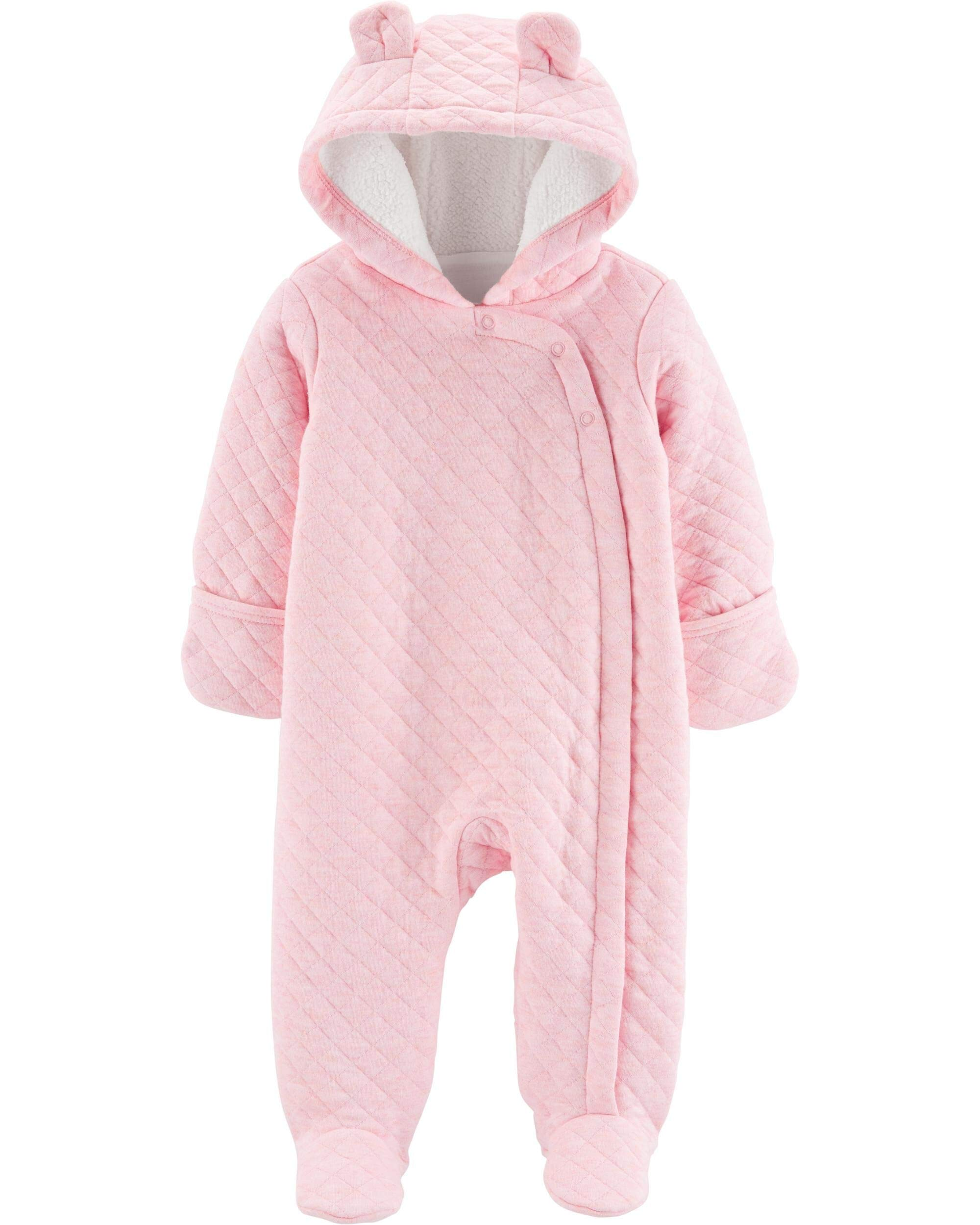 Carter's Baby Quilted Hooded Bunting, Pram, Light Pink, 9 Months by Carter's