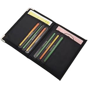 Pochette de carte d'identité et porte carte de crédit en différentes designs en couleur noir