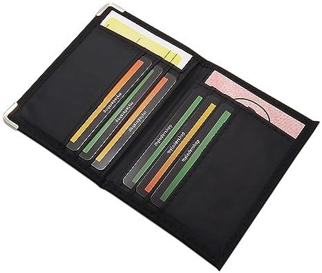 ff7c394dbd Porta carte d'identità e carte di credito in 2 diversi designs in nero (