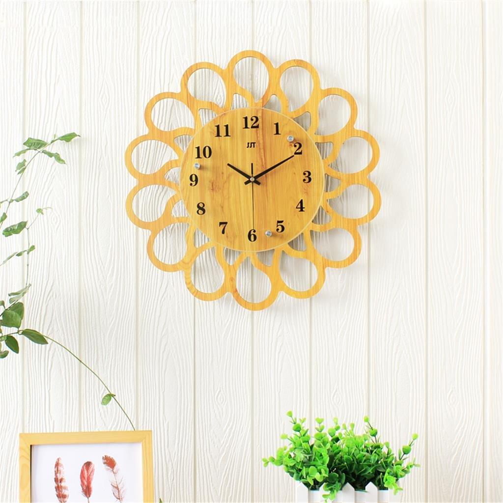45 * 45センチメートル木製の壁時計リビングルームホームベッドルームミュートクロック B07D1PNYH7