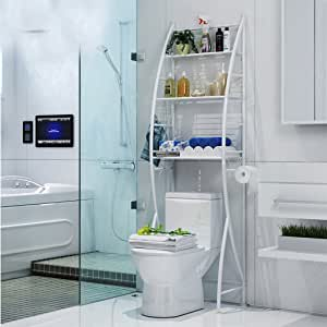 JXXDQ Cuarto de baño WC Multi - Funcional Aseo Zhiwu Rack JIA Aseo Acabado Rack Aterrizaje Lavadora - Shelf: Amazon.es: Hogar