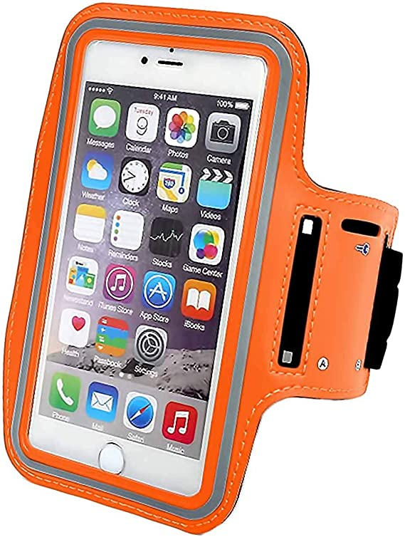 Orange Sport Arm Band Running Armband Cover Case For Samsung Galaxy Note 8//S8 Plus//S8+