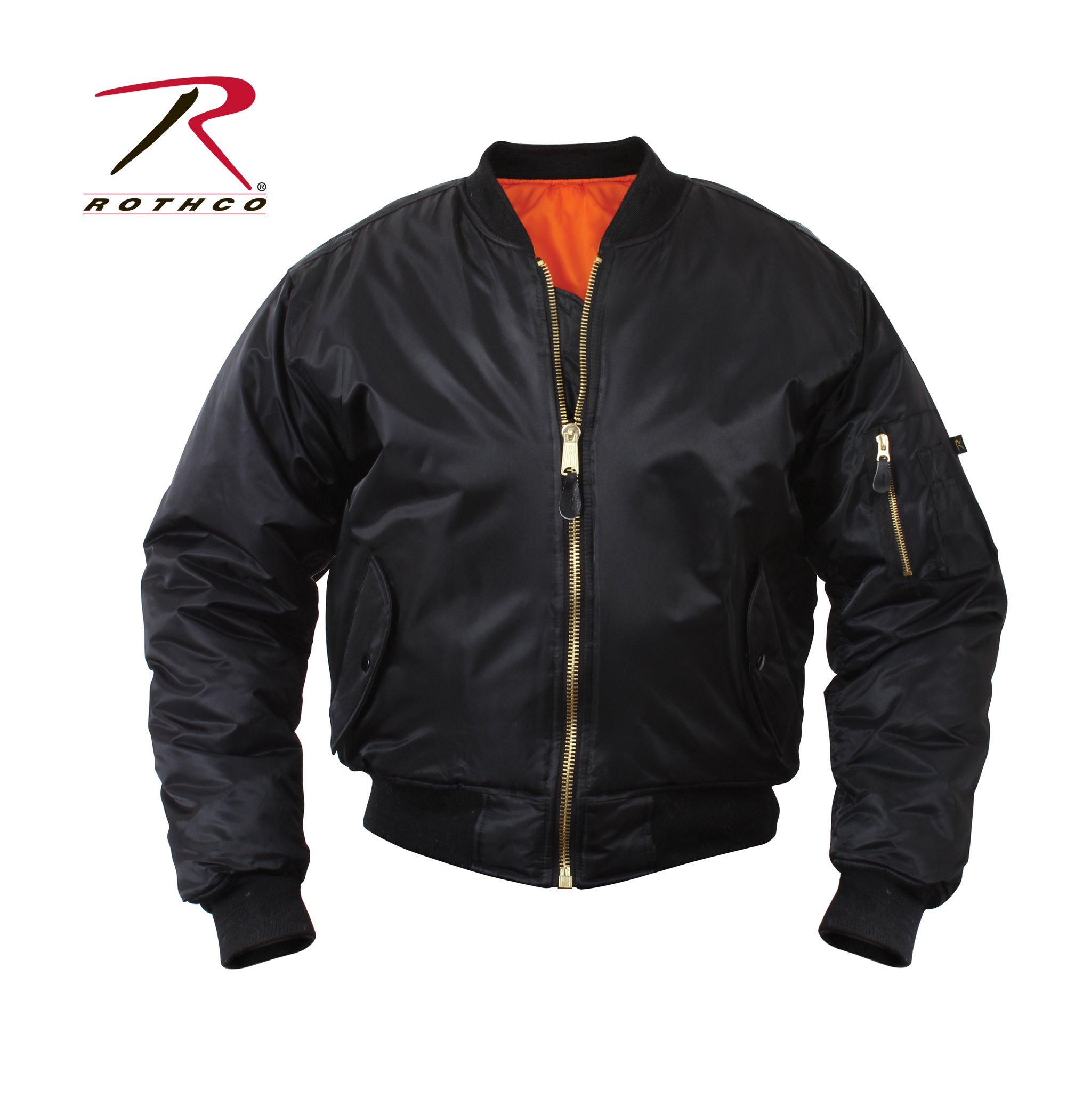 Rothco Kids Ma-1 Flight Jacket-Black, Medium