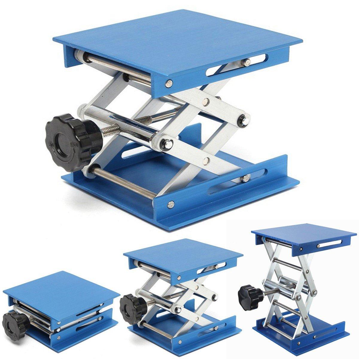 OlogyMart 4inch Aluminum Lifting Platforms Stand Rack Scissor Lab-Lifting Oxide Lab Jack Stand Scissor