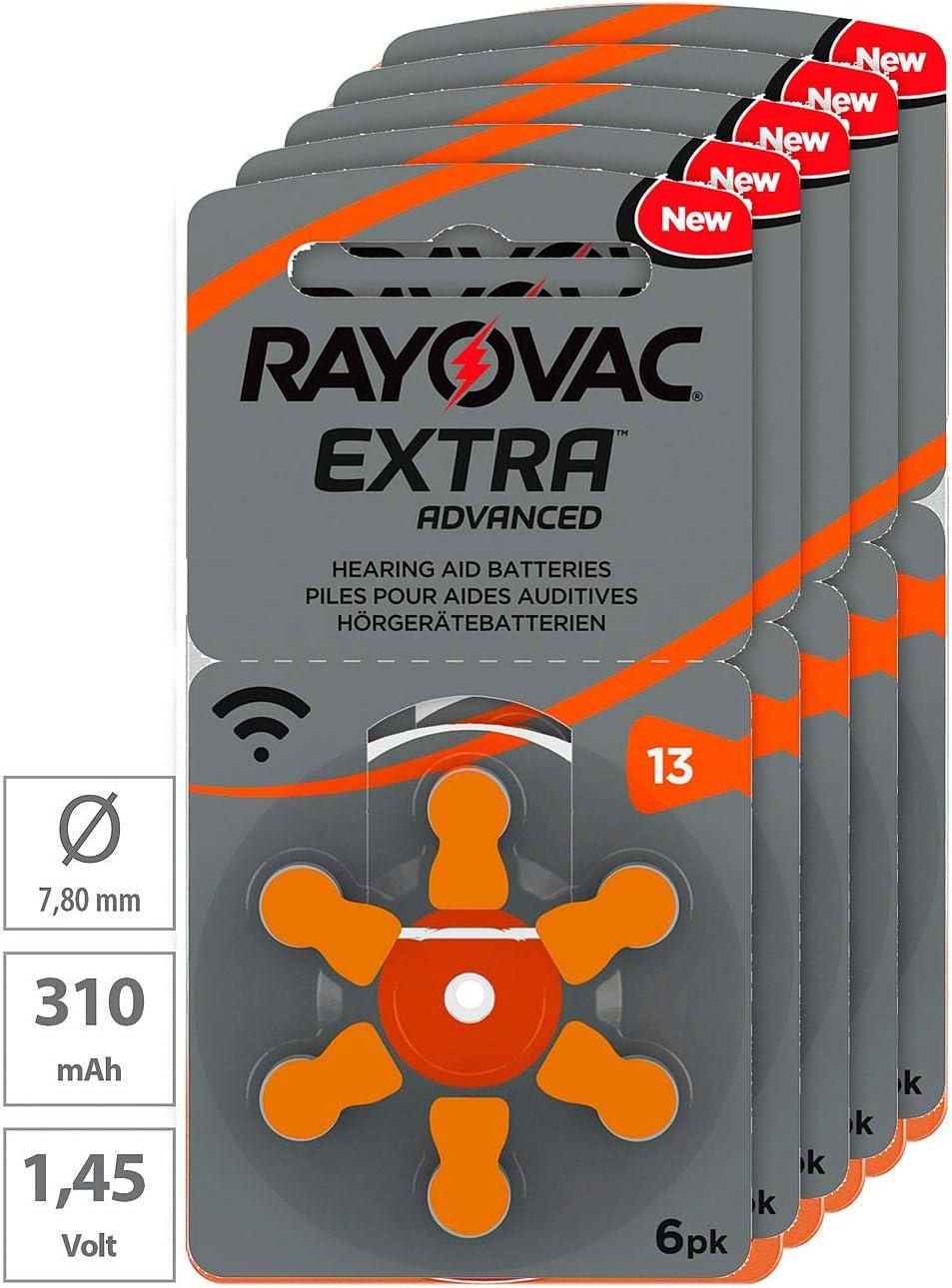 Rayovac Hearing Aid Batteries 13 Extra Advanced 1 45 V Elektronik