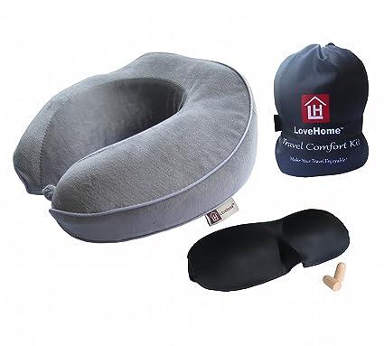 LOVEHOME Innovador viajes cuello almohada ayuda del cuello ...
