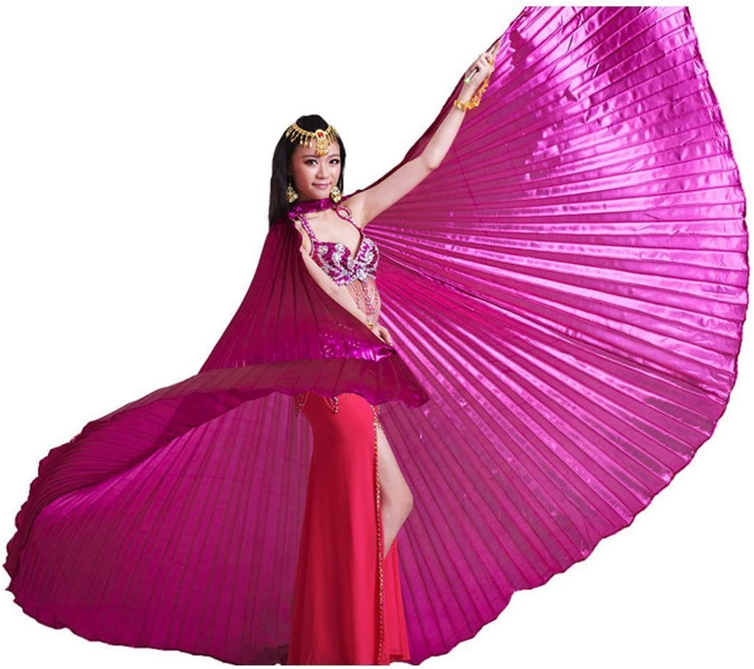 Pour danse du ventre /égyptienne Costume cadeau id/éal pour No/ël grandes f/êtes rose Ailes d/'Isis Calcifer/®
