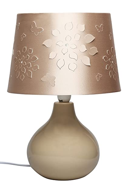 Buy ivy ceramic table lamp champagne online at low prices in ivy ceramic table lamp champagne mozeypictures Images